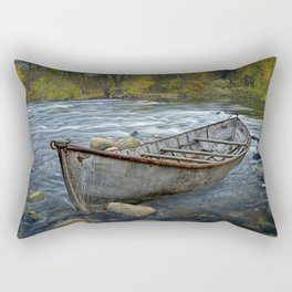 Canoe on the Thornapple River in Autumn Rectangular Pillow