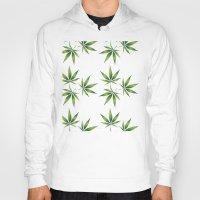marijuana Hoodies featuring Marijuana Leaves  by Limitless Design