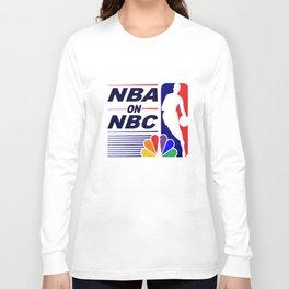 Nba On Nbc Classic Vintage 90S Tank Top Warriors Bulls Throwback Look Basketball T-Shirts Long Sleeve T-shirt