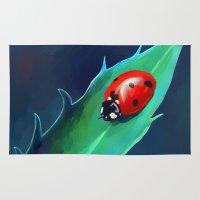 ladybug Area & Throw Rugs featuring Ladybug by Freeminds