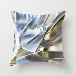 Blades of metal impeller Throw Pillow