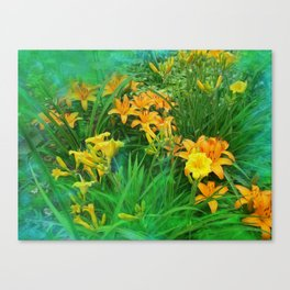 Day-glo Lilies Canvas Print