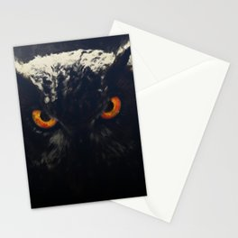owl look digital painting orcfnd Stationery Cards