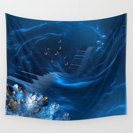 Blue coral melody  Wall Tapestry