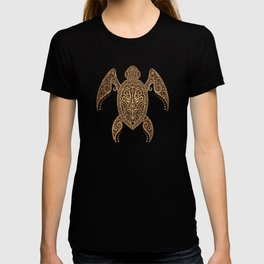 Intricate Vintage and Cracked Sea Turtle T-shirt
