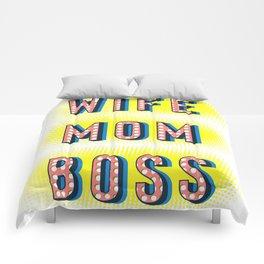 Wife Mom Boss Comforters