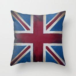 Union Jack Antique Throw Pillow