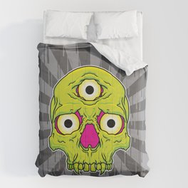 3 Eyed Jackass (green) Comforters