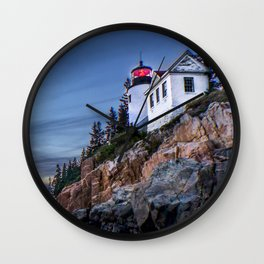 Bass Harbor Light in Acadia National Park Wall Clock