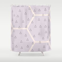 Polygon meets triangle Shower Curtain