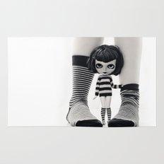 We love Socks in BW stripes Rug
