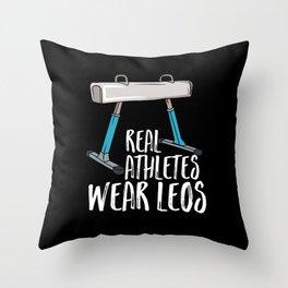 Real Athletes Wear Leos Throw Pillow