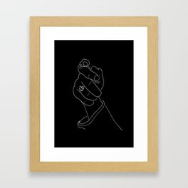 Alas, Poor Sparrow! | White on Black Framed Art Print