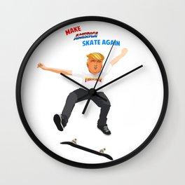 Make America Skate Again Wall Clock
