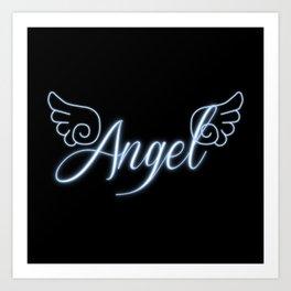 Angel with Wings Art Print