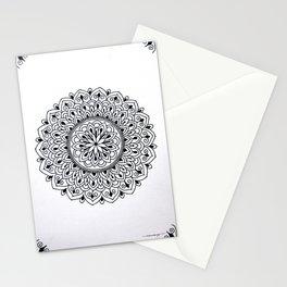 Black Dot Mini Mandala 1 Stationery Cards