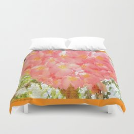 Mexico Blossom Pink & Yellow Flower Duvet Cover