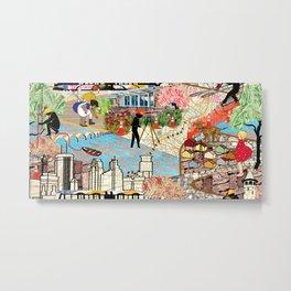 Urban Sightings Collage Metal Print