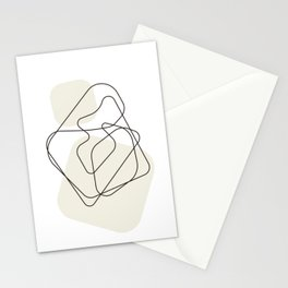 Maternal love Printable Modern Minimalist Wall Art Poster Creative Abstract Black White Line Zen Studio Room Decor Digiral Download Stationery Cards