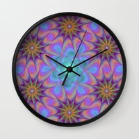 meditation Wall Clocks featuring Meditation by David Zydd