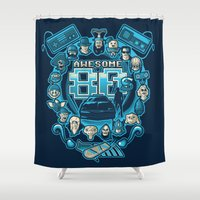 80s Shower Curtains featuring AWESOME 80s by Letter_q