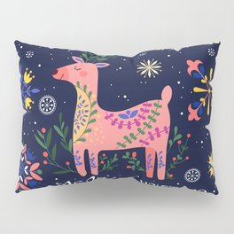 Happy Deer Card Pillow Sham