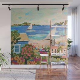 Pink Hibiscus by Karen Fields Wall Mural