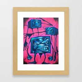 Band of TVs Framed Art Print