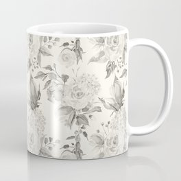 Roses in Grey and Beige Coffee Mug