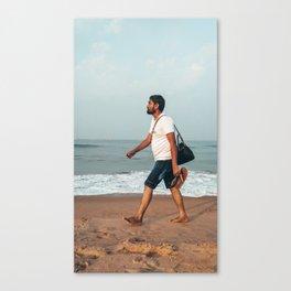 Beach Man Canvas Print