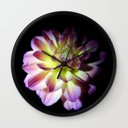 Blooming in the Darkness Wall Clock
