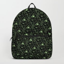 Cryptid Pattern: Green Lines Backpack