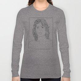 ANDY WARHOL POLAROIDS - MICK J.  PORTRAIT    Long Sleeve T-shirt