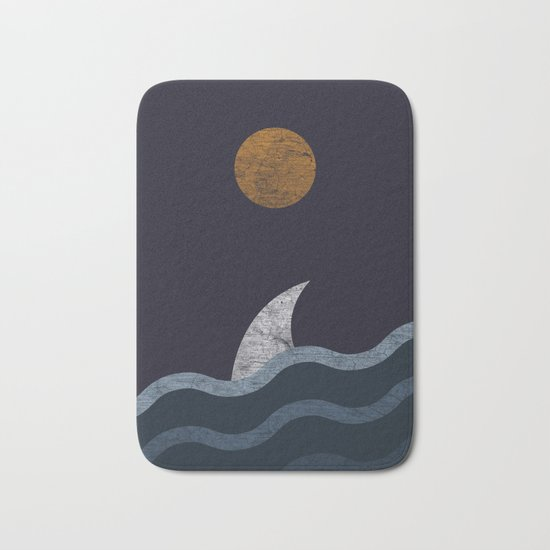 Midnight Shark Bath Mat