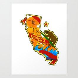 California Pride Art Print