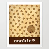 cookie Art Prints featuring cookie? by Linda Tieu
