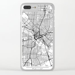 Dallas Map White Clear iPhone Case