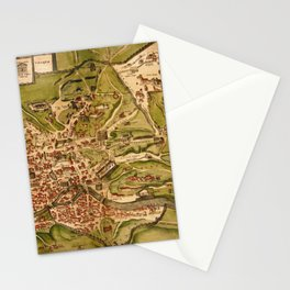 Map Of Rome 1575 Stationery Cards