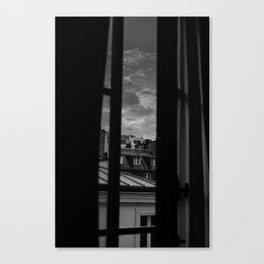 Noir Paris II Canvas Print