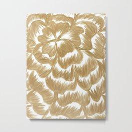 Golden Dahlia Flower Metal Print