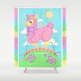 Unicorn Alpaca! Shower Curtain