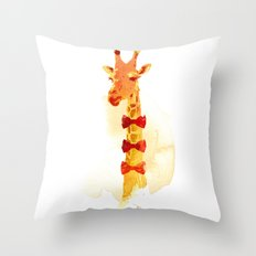Elegant Giraffe Throw Pillow
