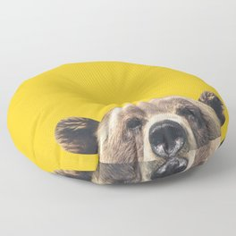 Bear - Yellow Floor Pillow