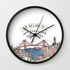 We Belong in San Francisco Wall Clock
