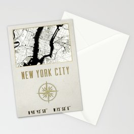 New York City Vintage Location Design Stationery Cards