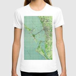 Vintage map of Sarasota Florida (1944) T-shirt