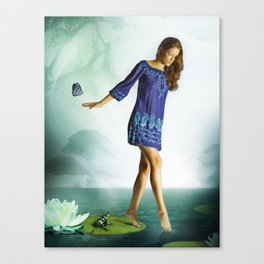 The Lili & The Frog Canvas Print