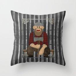 Sockmonkey Lumberjack Throw Pillow