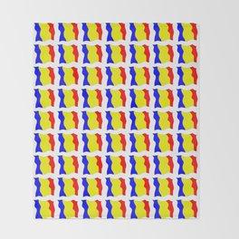 Flag of romania-romania,romanian,balkan,bucharest,danube,romani,romana,bucuresti Throw Blanket