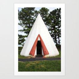 Wigwam Motel Cave City Kentucky Art Print